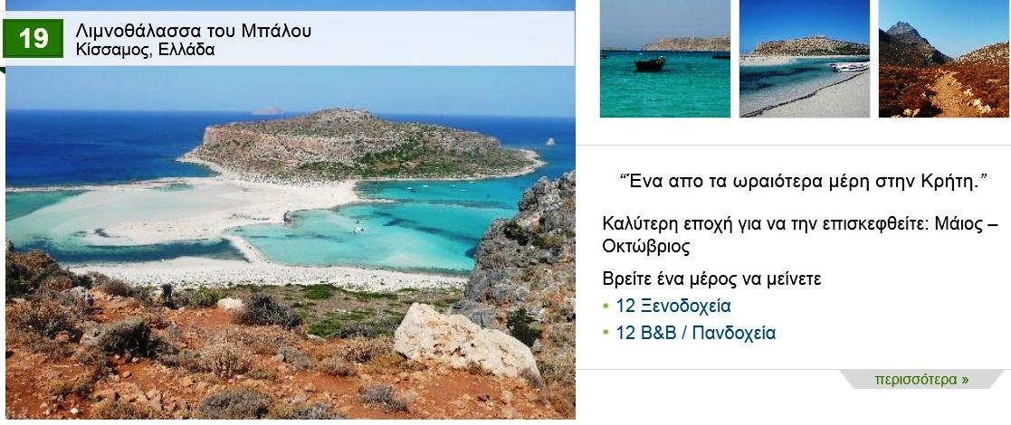 Ελαφονήσι και Μπάλος στις 25 καλύτερες παραλίες της Ευρώπης