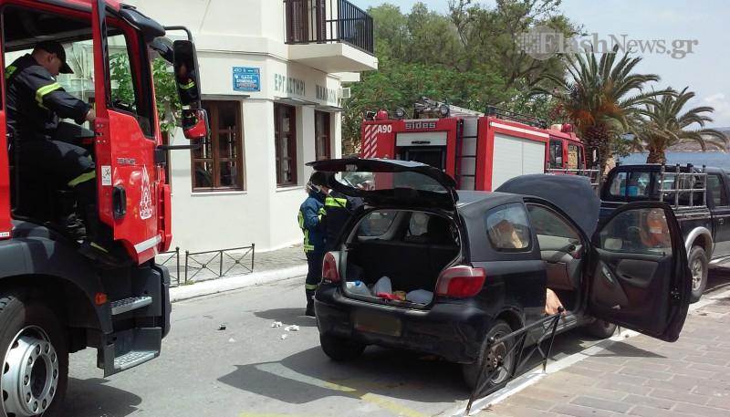 Αναστάτωση στο κέντρο των Χανίων από καπνούς σε αυτοκίνητο