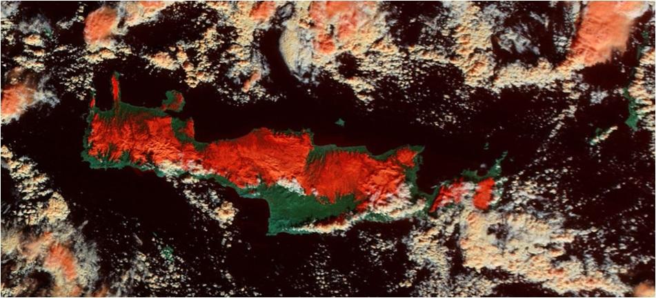Η Κρήτη τις ημέρες του χιονιά από δορυφόρο Εντυπωσιακές φωτογραφίες