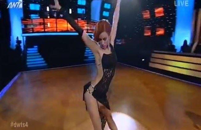 Χωρίς εσώρουχο χόρεψε στο Dancing η Κατερίνα Στικούδη (video)