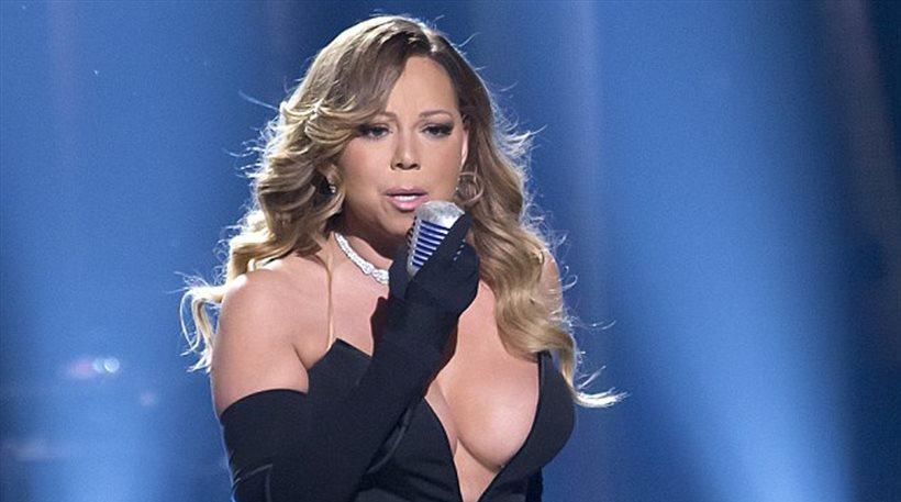 Πώς... κρατιέται το φόρεμα της Mariah Carey; - Σέξι κι όποιος αντέξει!