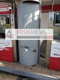 Παραλίγο τραγωδία στην Κρήτη: Γυναίκα οδηγός τράκαρε μέσα σε βενζινάδικο