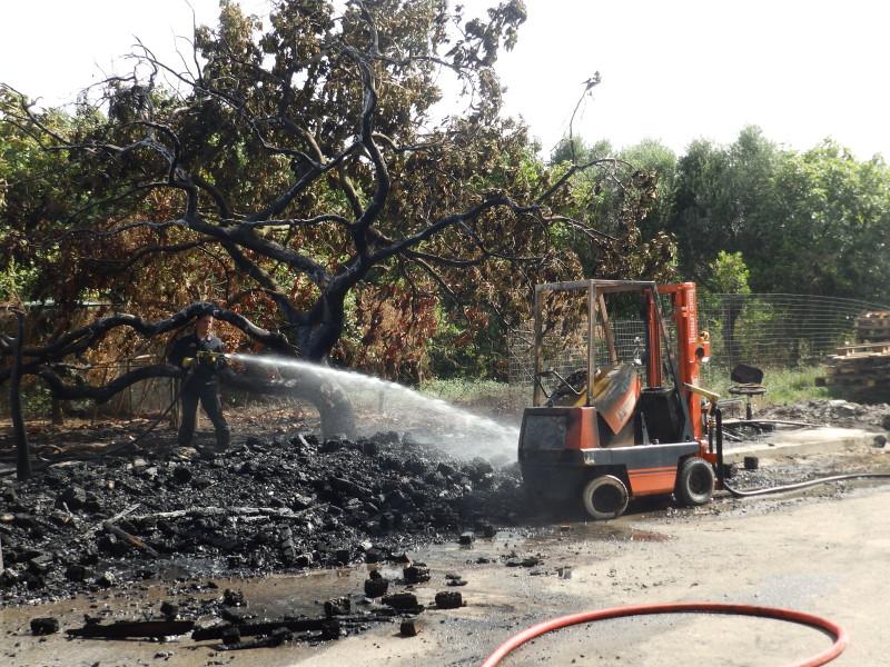 Χανιά: Μεγάλες ζημιές από πυρκαγιά στην Αγιά – Κινδύνεψε αποθήκη τροφίμων