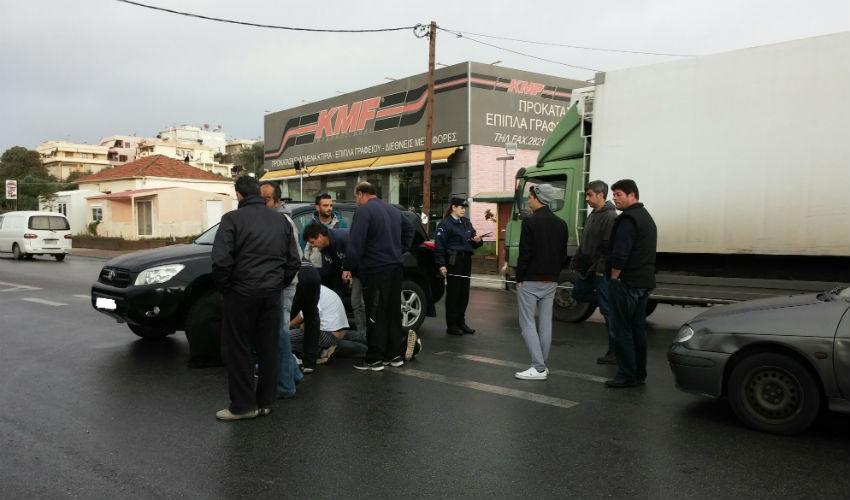 Χανιά: Τροχαίο με μηχανάκι στον Κλαδισό (φωτο)