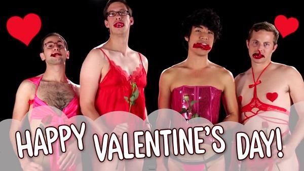 Άνδρες δοκιμάζουν sexy εσώρουχα για την ημέρα του Αγίου Βαλεντίνου (video)