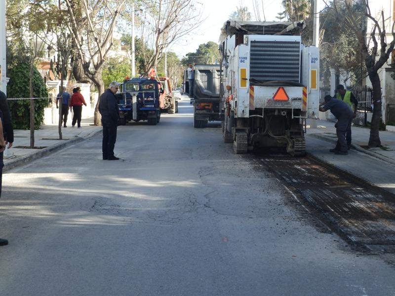 Χανιά | Ξεκίνησαν οι εργασίες στην οδό Νεάρχου (φωτο)