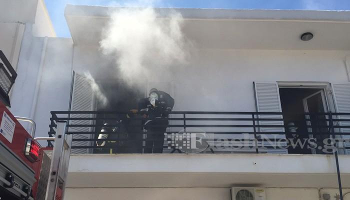 Πυρκαγιά σε διαμέρισμα οικίας στον Άγιο Ιωάννη Χανίων