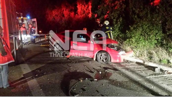 Νεκρός οδηγός σε τροχαίο δυστύχημα στα Χανιά (φωτο)
