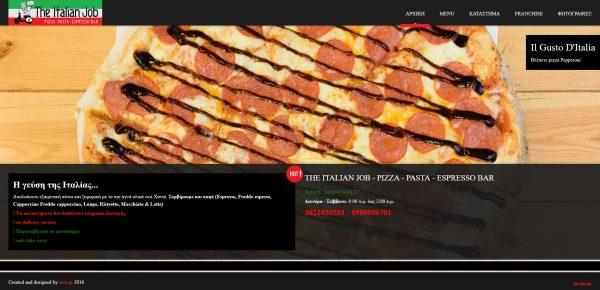 The italian job – pizza – pasta – espresso bar
