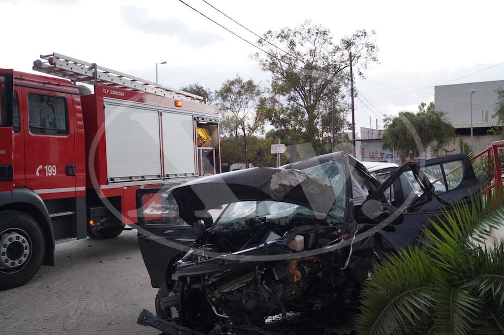 Σοβαρός τραυματισμός σε τροχαίο στα Χανιά (φωτο)