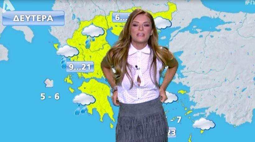Ελένη Τσολάκη: Άνοιξε το πουκάμισο της στον «αέρα» της εκπομπής
