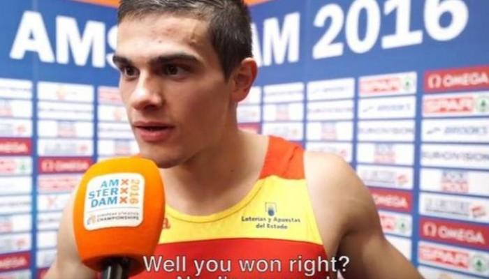 Έμαθε από τη δημοσιογράφο πως πήρε το χρυσό-Επική η αντίδραση του (βίντεο)