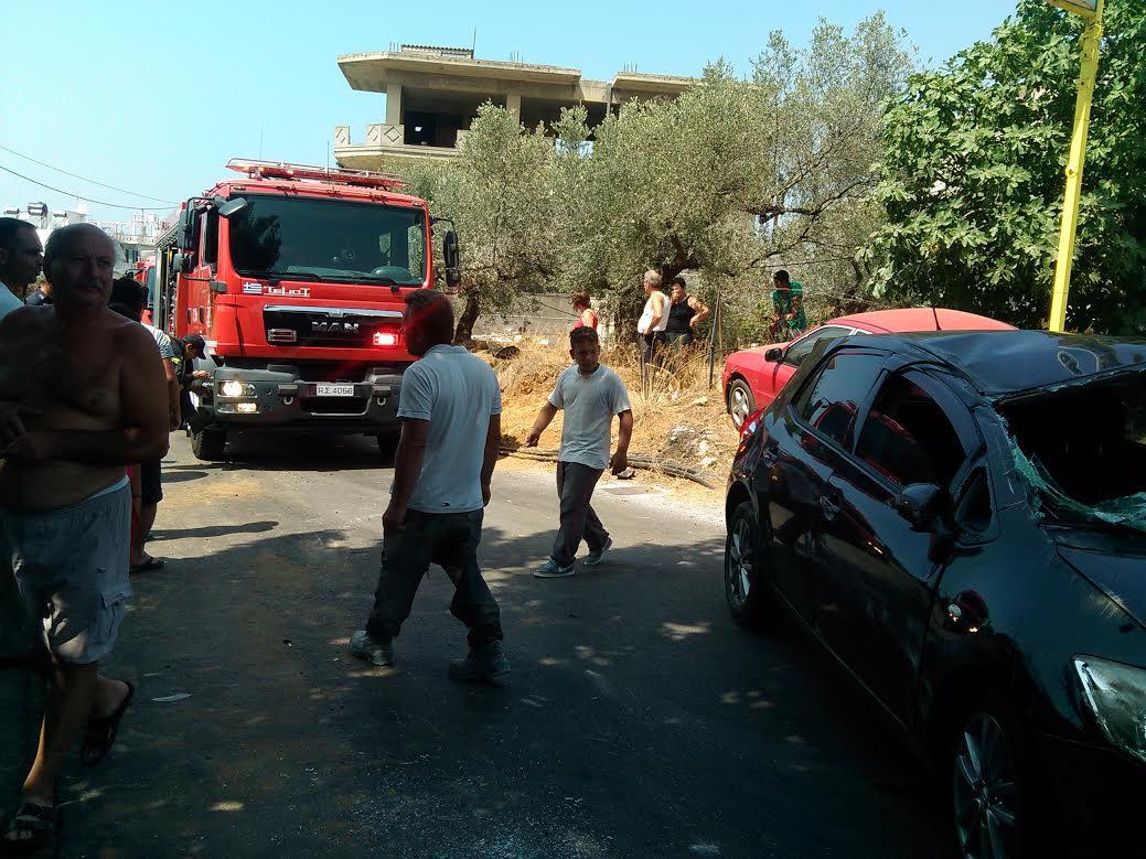 Χανιά: Αυτοκίνητο τούμπαρε στη μέση του δρόμου (Photos)