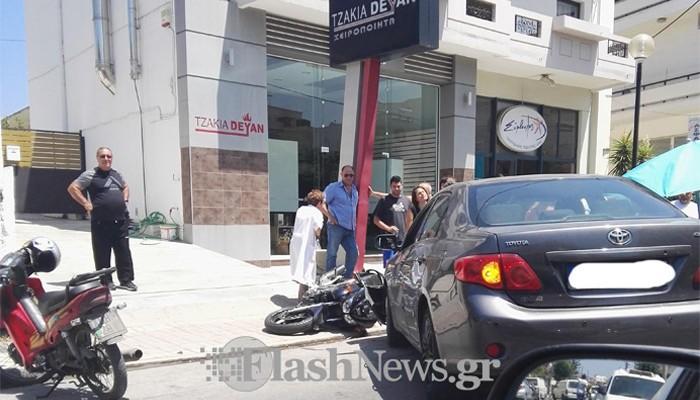 Σε σοβαρή κατάσταση τραυματίας μετά από τροχαίο στα Χανιά (φωτο)