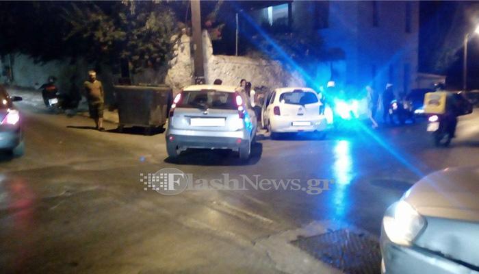 Τροχαίο ατύχημα σε διασταύρωση στην πόλη των Χανίων (φωτο)