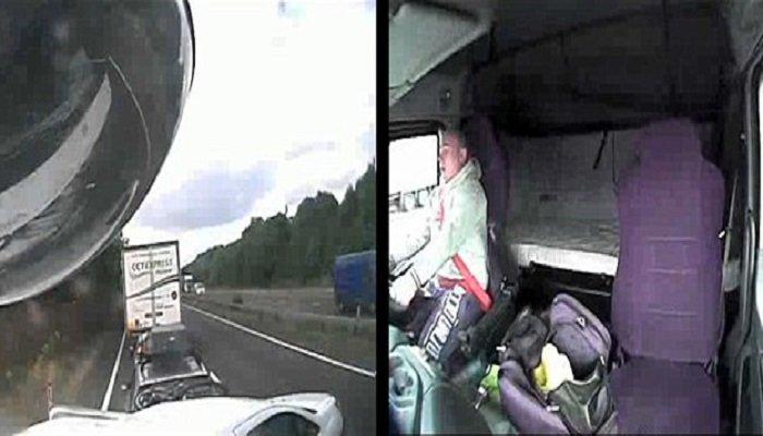 Οδηγός φορτηγού έπαιζε με το κινητό του και ξεκλήρισε ολόκληρη οικογένεια (vid)