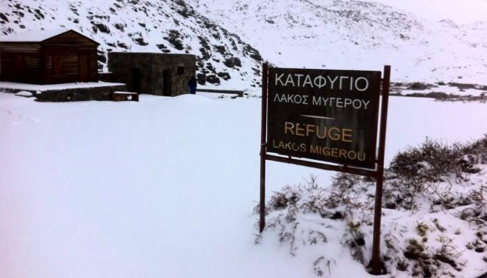 Επιχείρηση διάσωσης 4 περιπατητών στα χιόνια του Ψηλορείτη