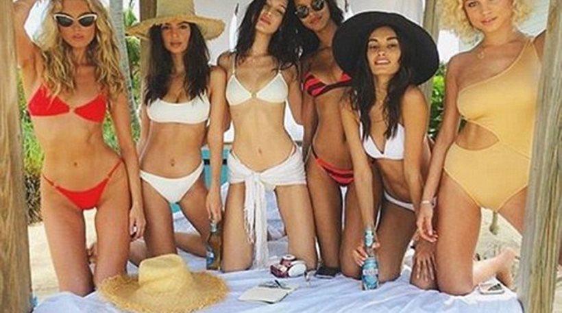 Ο «παράδεισος» είναι στις Μπαχάμες: Bella Hadid, Elsa Hosk, Emily Ratajkowski και Alessandra Ambrosio στην παραλία