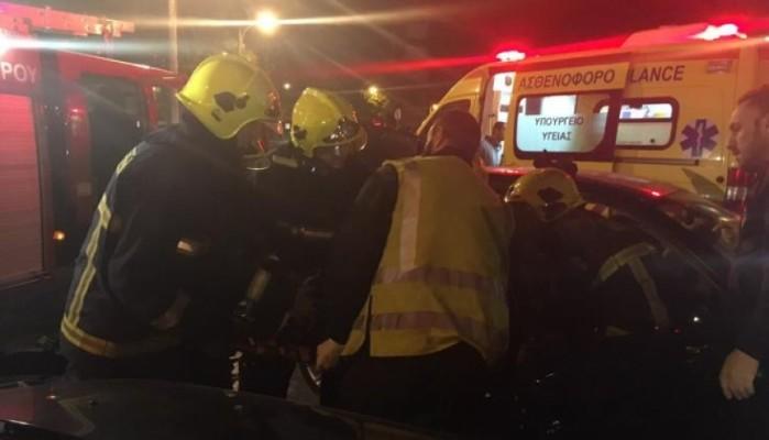 Κρήτη: Εγκλωβίστηκε τραυματισμένος νεαρός σε τροχαίο στην εθνική οδό