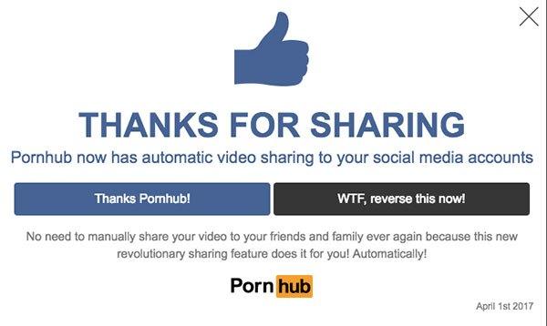 Η κορυφαία φάρσα για την Πρωταπριλιά ανήκει στο…Pornhub