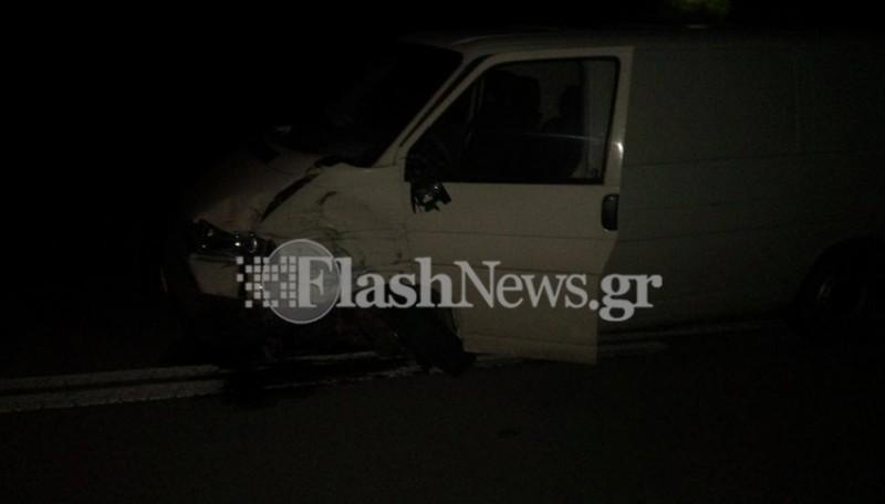 Τροχαίο ατύχημα στην Κίσσαμο στο ύψος των Νωπηγείων (φωτό)