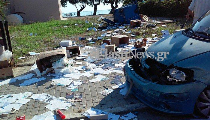 Χανιά: Σοβαρό τροχαίο στον Σταλό με τραυματισμό οδηγού (φωτο)