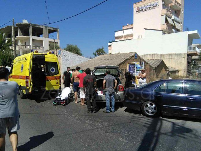 Χανιά: Τροχαίο με τραυματισμό ανάμεσα σε ταξί και Ι.Χ. στον Άγιο Λουκά (φωτο)