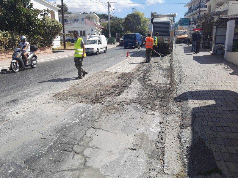 Ξεκίνησαν οι εργασίες στο δρόμο της Ακρωτηρίου -Πως θα γίνεται η κυκλοφορία