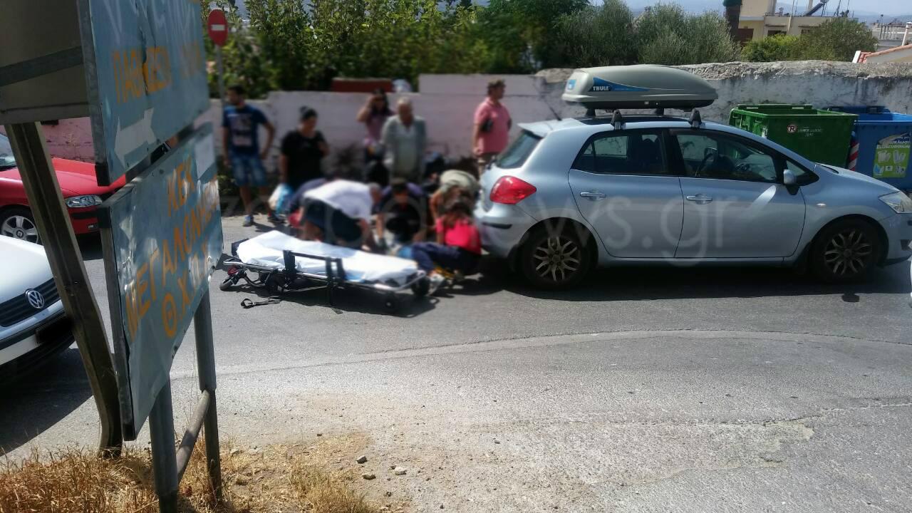 Τι γίνεται με τα τροχαία στα Χανιά; Τραυματίας οδηγός δικύκλου μετά από σύγκρουση με Ι.Χ. (φωτο)