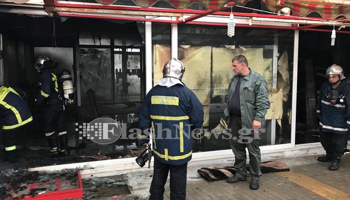 Πυρκαγιά σε αποθήκη με χαλιά στον Μακρύ Τοίχο στα Χανιά