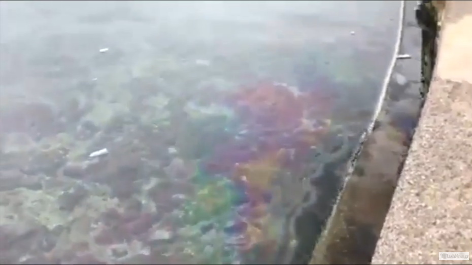 Εμφανίστηκε θαλάσσια ρύπανση στο παλιό λιμάνι Χανίων (video)