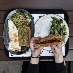 Omelet Open Sandwich