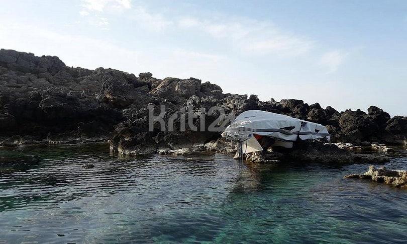 Τραγωδία στα Χανιά - Τρεις Χανιώτες νεκροί από πρόσκρουση σκάφους σε βράχια (φωτο)