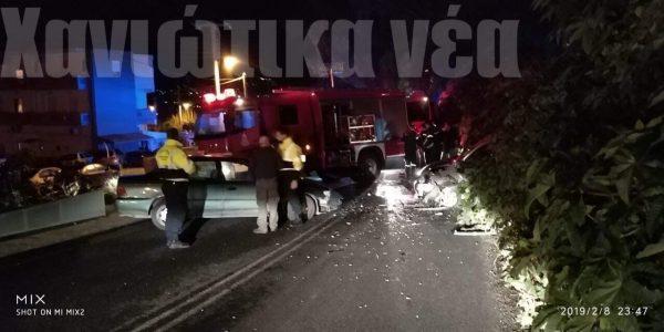 Χανιά: Τρεις τραυματίες μετά από μετωπική σύγκρουση Ι.Χ. (φωτο)