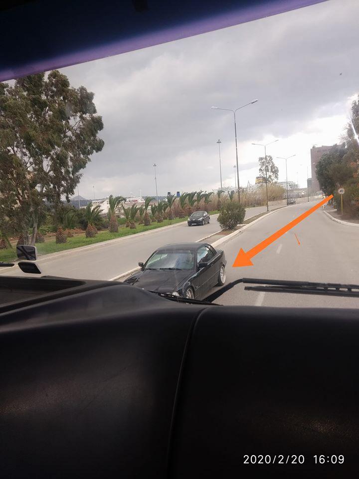 Χανιά: Οδηγός πήγαινε ανάποδα σε κεντρική λεωφόρο (φωτο)