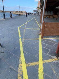 """Χανιά: """"Μαθήματα… γεωμετρίας"""" με τις διαγραμμίσεις στο Ενετικό Λιμάνι! (φωτο)"""