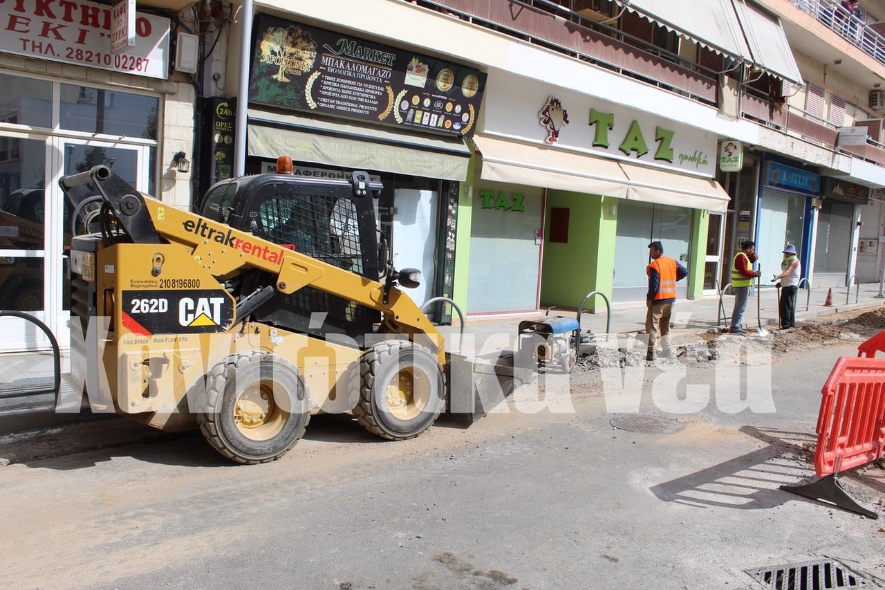Χανιά: Σκάβουν ξανά την οδό Περίδου και προκάλεσαν μεγάλη ζημιά (φωτο)