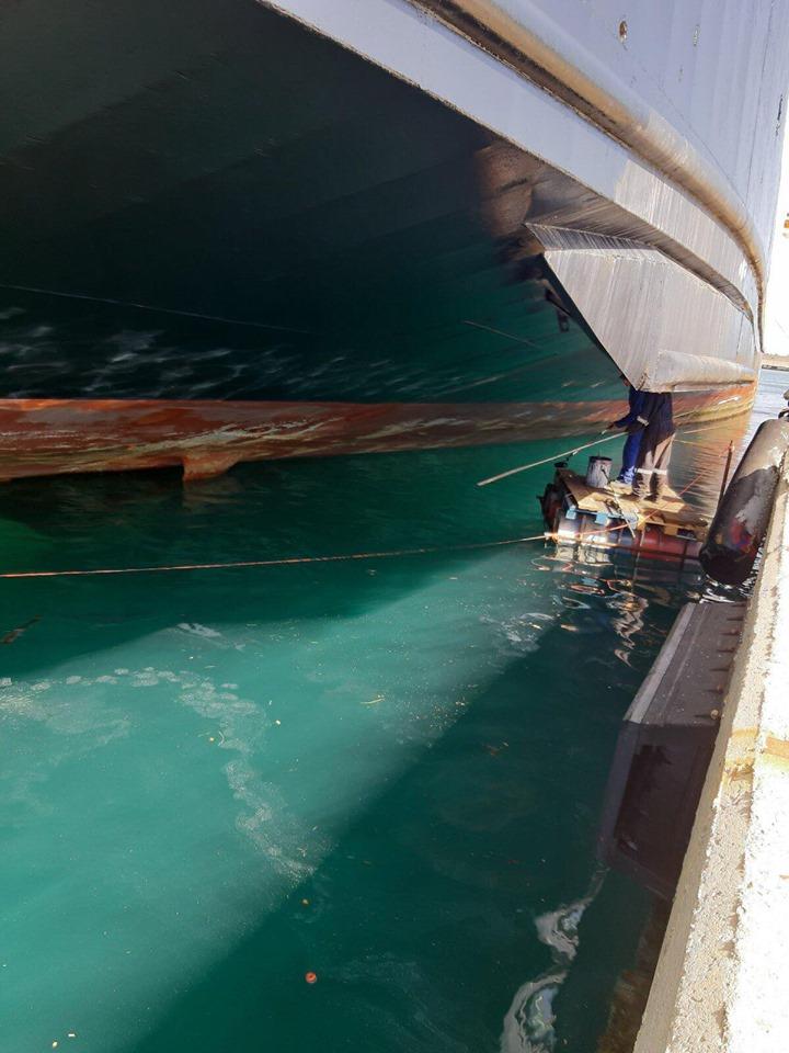 Ολοκληρώθηκαν οι εργασίες αποκατάστασης του ρήγματος στο πλοίο Olympus