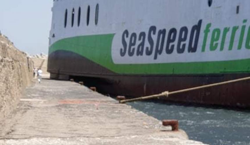 Στο λιμάνι του Ρεθύμνου προσέκρουσε το επιβατηγό πλοίο OLYMPUS (φωτο & video)