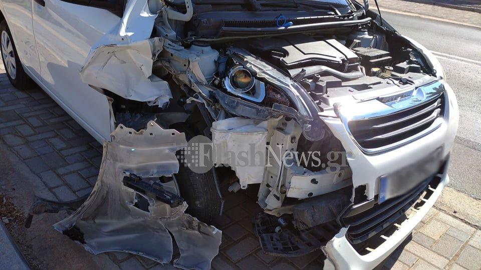 Χανιά: Τροχαίο ατύχημα στα Κουνουπιδιανά (φωτο)
