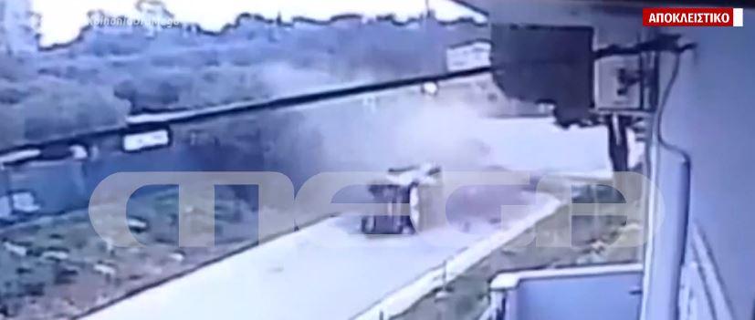 Κρήτη: Αποκλειστικό βίντεο ντοκουμέντο με το τροχαίο που κόστισε τη ζωή σε μάνα και κόρη