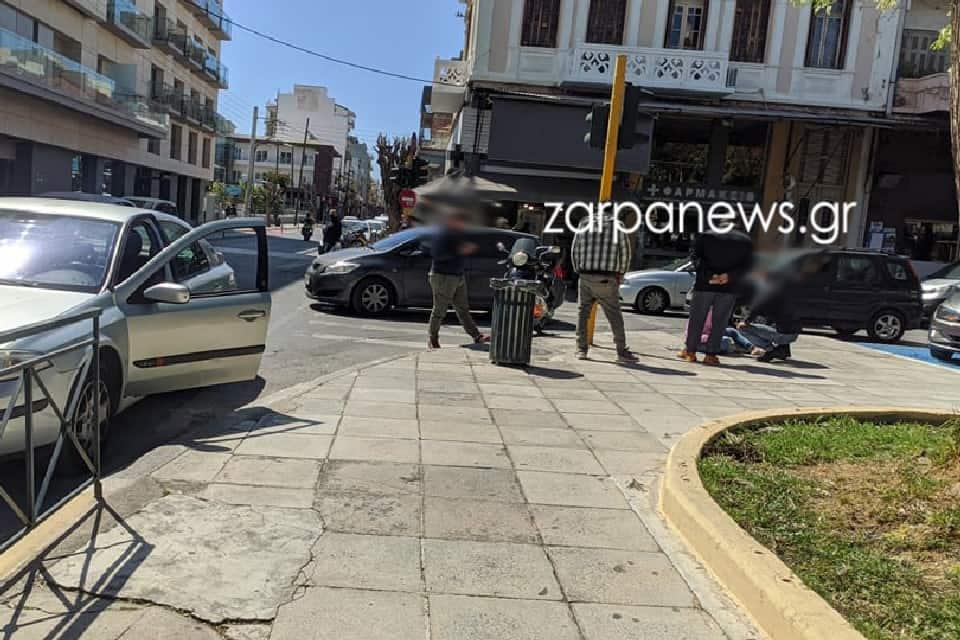 Χανιά: Τροχαίο με μηχανάκι στο κέντρο της πόλης (φωτο)