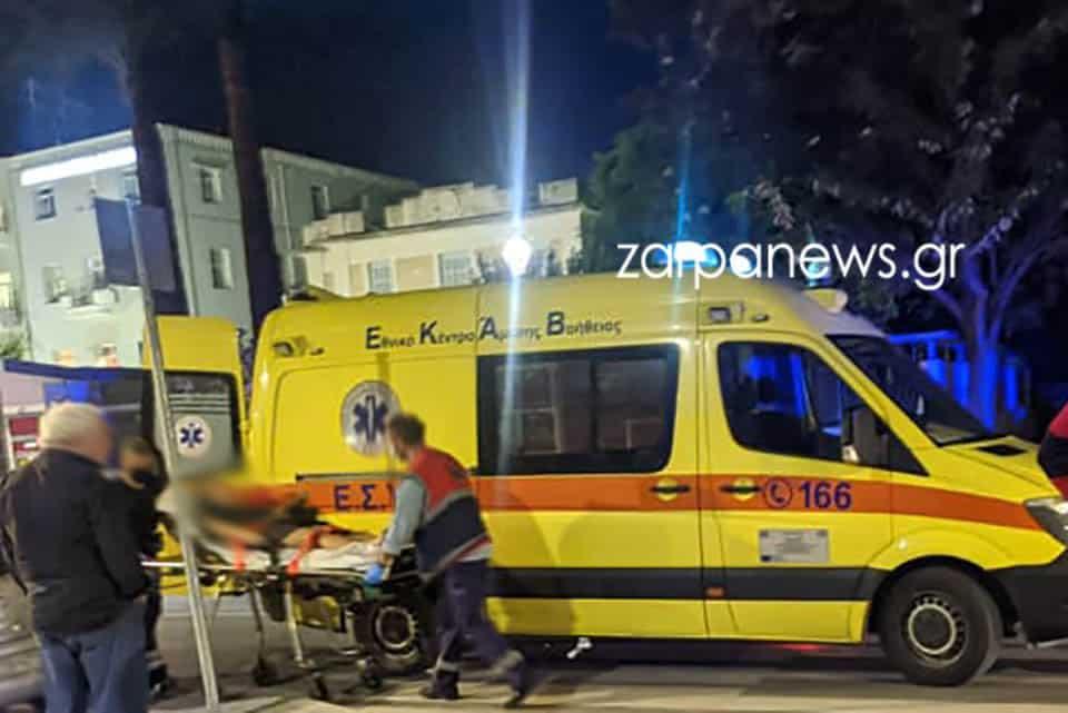 Χανιά: Δύο πεζές κοπέλες παρασύρθηκαν από μηχανή στο κέντρο της πόλης (φωτο)