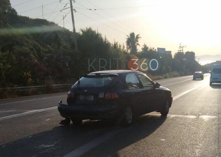 Χανιά: Πρωινή τροχαίο πάνω στην εθνική οδό (φωτο)