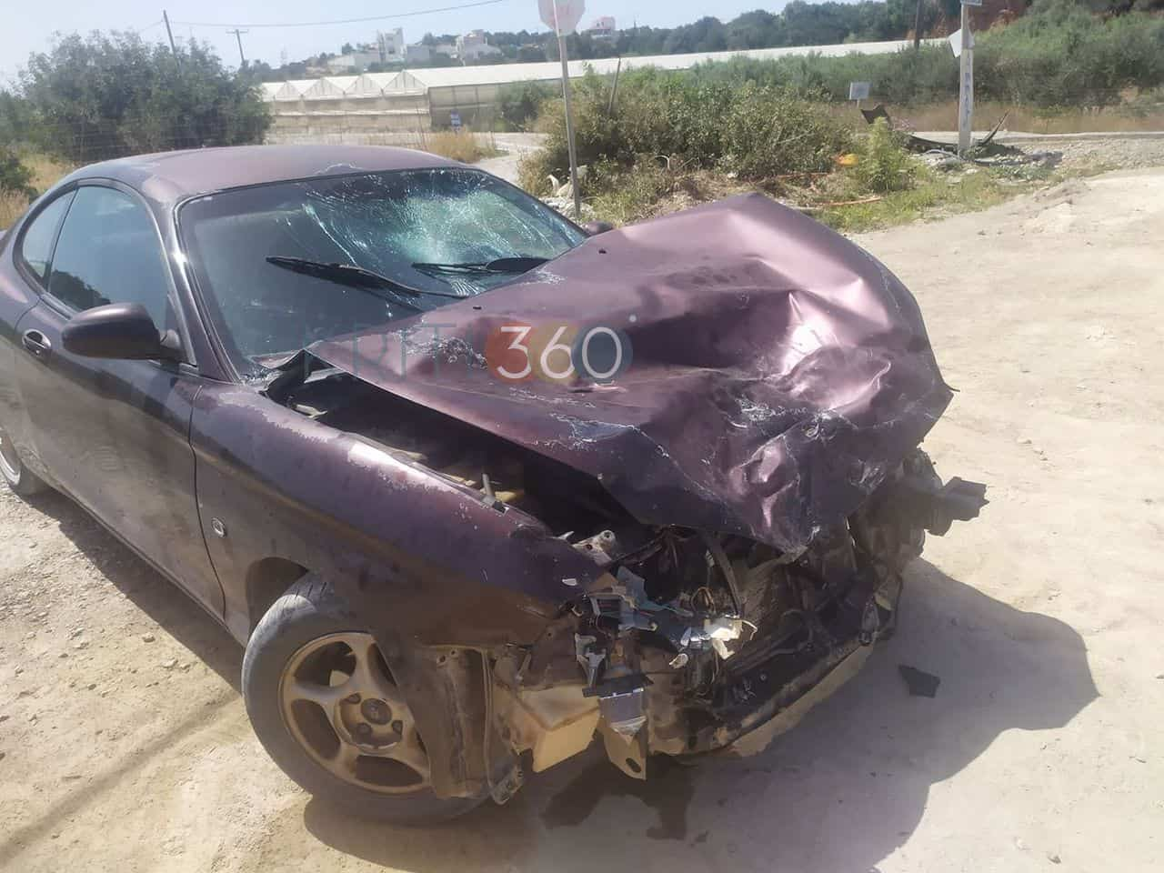 Χανιά: Σοβαρό τροχαίο μετά από σύγκρουση ΙΧ με μοτοσικλέτα