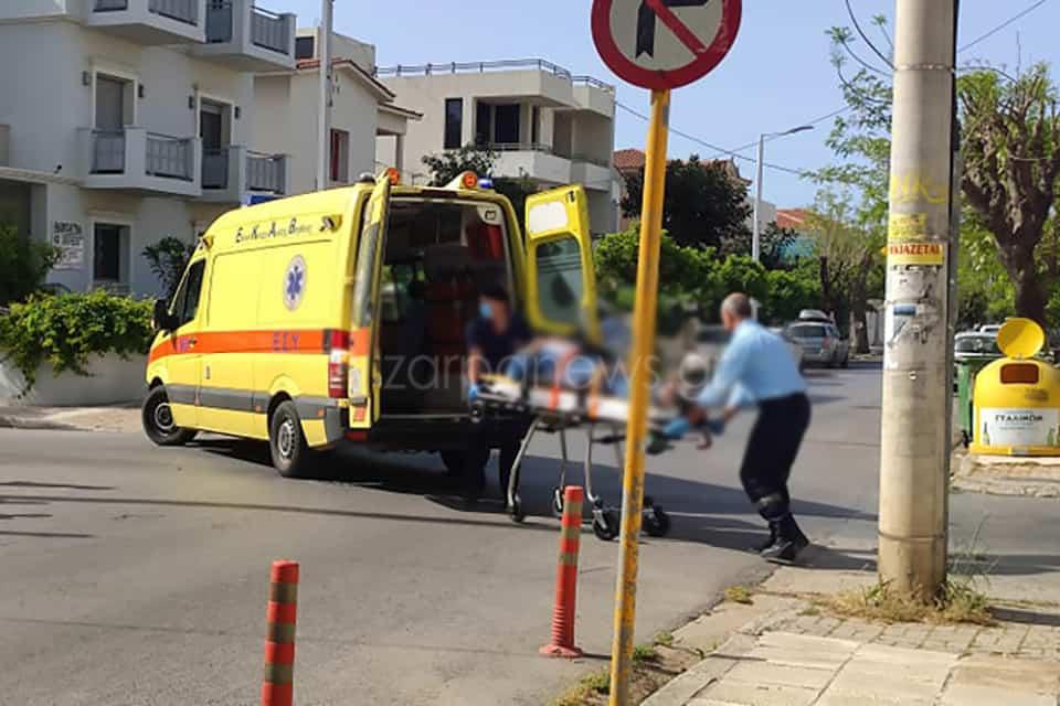 Χανιά: Τραυματίστηκε ηλικιωμένος οδηγός μηχανής σε τροχαίο (φωτο)