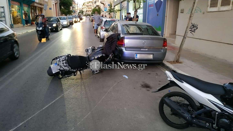 Χανιά: Τροχαίο ατύχημα - Μηχανή παρέσυρε παιδάκι (φωτο)