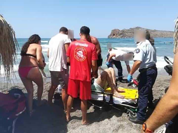 Χανιά: Έσωσαν τουρίστα από βέβαιο πνιγμό - 12 άτομα κινδύνευσαν στην ίδια παραλία μέσα σε 20 λεπτά!