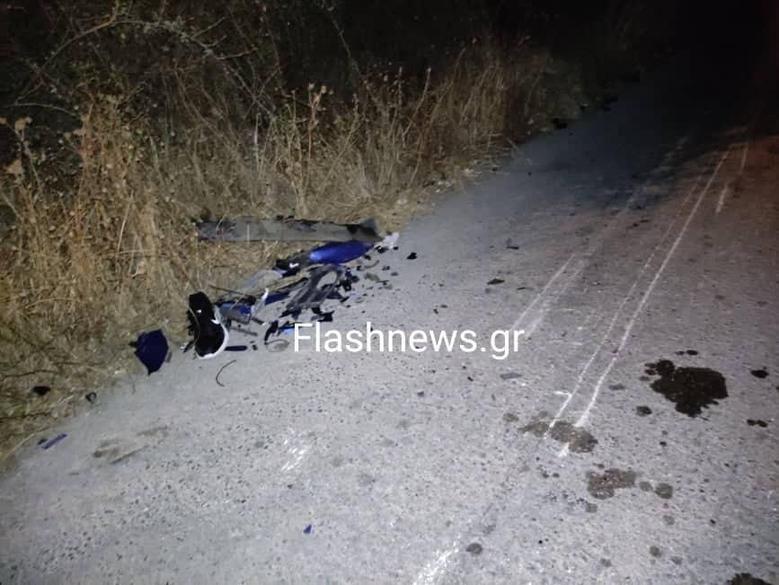Τραγωδία στα Χανιά - Νεκρός ένας 18χρονος σε τροχαίο (φωτο)