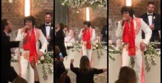 Μυθικό ο «Έλβις Πρίσλεϊ» τραγουδάει Βασίλη Καρρά σε γάμο (video)